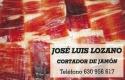 Jose Luis Lozano Cortador de Jamón