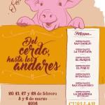 cartel del cerdo hasta los andares